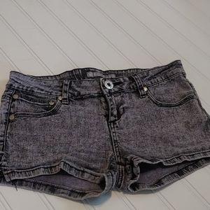Acid Wash Purple denim shorts